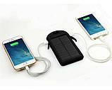 Портативний зарядний пристрій Solar Power Bank 30000 mAh на сонячній батареї | PowerBank LED / Повер Банк, фото 6