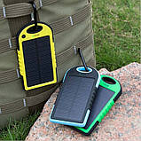 Портативний зарядний пристрій Solar Power Bank 30000 mAh на сонячній батареї | PowerBank LED / Повер Банк, фото 10