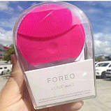Электронная щетка для чистки лица Foreo Luna mini 2- массажёр Форео МАЛИНОВАЯ, фото 10