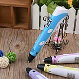 3D Ручка PEN-2 с LCD-дисплеем + Пластик / Ручка для 3Д рисования / 3Д ручка детская - Синяя, фото 5