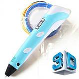 3D Ручка PEN-2 с LCD-дисплеем + Пластик / Ручка для 3Д рисования / 3Д ручка детская - Синяя, фото 7