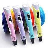3D Ручка PEN-2 с LCD-дисплеем + Пластик / Ручка для 3Д рисования / 3Д ручка детская - Синяя, фото 8