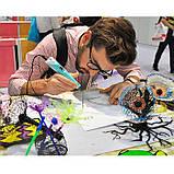 3D Ручка PEN-2 з LCD-дисплеєм + Пластик, Ручка для 3Д малювання / 3Д ручка дитяча - Фіолетова, фото 7