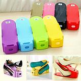 Двойные подставки для обуви 4 в 1 Double Shoe Racks LY-500 / Органайзеры для обуви - Комплект 4 шт / для 4 пар, фото 6