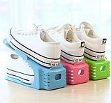 Двойные подставки для обуви 4 в 1 Double Shoe Racks LY-500 / Органайзеры для обуви - Комплект 4 шт / для 4 пар, фото 7