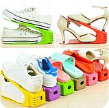 Двойные подставки для обуви 4 в 1 Double Shoe Racks LY-500 / Органайзеры для обуви - Комплект 4 шт / для 4 пар, фото 8