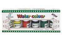 Набор акварельных красок 6 цв.25мл с нейлон.кист