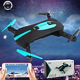 Квадрокоптер селфи-дрон JY018 Mini HD, Автовзлёт / автопосадка - Мини-дрон Wi-Fi / Карманный коптер, фото 8