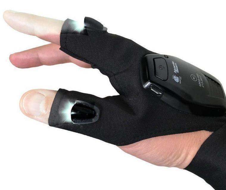 Рукавичка з підсвічуванням на пальцях Hands Free / Рукавичка - ліхтарик для роботи в темряві