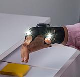 Рукавичка з підсвічуванням на пальцях Hands Free / Рукавичка - ліхтарик для роботи в темряві, фото 6