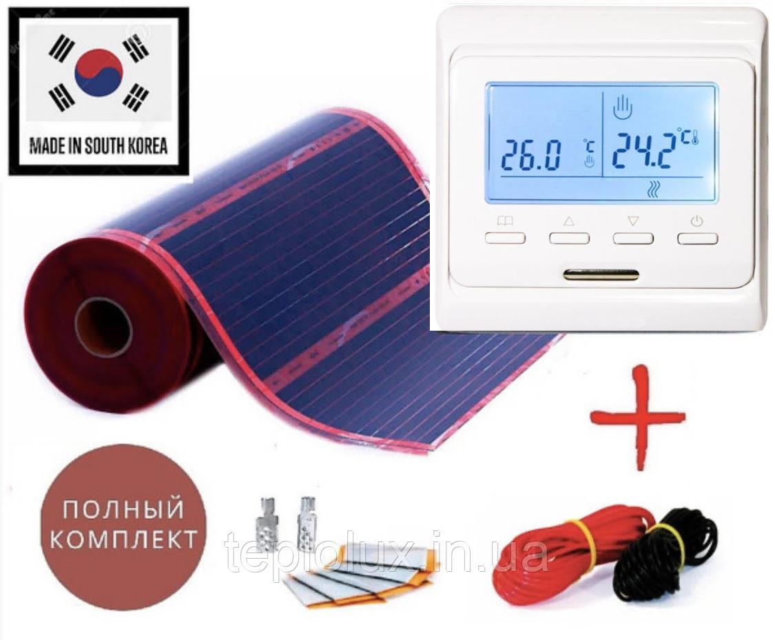 12м2. Комплект саморегулюючого інфрачервоної теплої підлоги Rexva з програмованим терморегулятором Е51