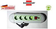 Подовжувач Brennenstuhl Casseta - Line на 4 розетки з кнопкою сіро-салатовий 1,8 м, фото 1