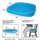 Ортопедична подушка для розвантаження хребта Egg Sitter   гелева подушка, фото 10