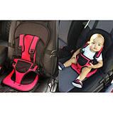 Детское бескаркасное автокресло с подголовником для ребенка весом 9-36 кг - Разные цвета, фото 6
