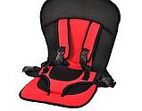 Детское бескаркасное автокресло с подголовником для ребенка весом 9-36 кг - Разные цвета, фото 7