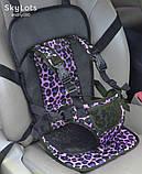 Детское бескаркасное автокресло с подголовником для ребенка весом 9-36 кг - Разные цвета, фото 9