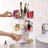 Органайзер для косметики вращающийся Cosmetics Storage Box Rot at Ive Rack JN-820, фото 7