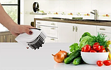 Нож для нарезки 3 в 1 Rolling Mincer и Tenderizer с чесночным прессом овощерезка, фото 6