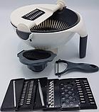 Багатофункціональна овочерізка-миска обертається WET BASKET / Кухонні терка для овочів та фруктів, фото 9