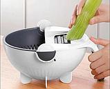 Багатофункціональна овочерізка-миска обертається WET BASKET / Кухонні терка для овочів та фруктів, фото 10