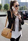 Винтажная Стильная женская сумка кожа PU, фото 4