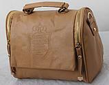 Винтажная Стильная женская сумка кожа PU, фото 6