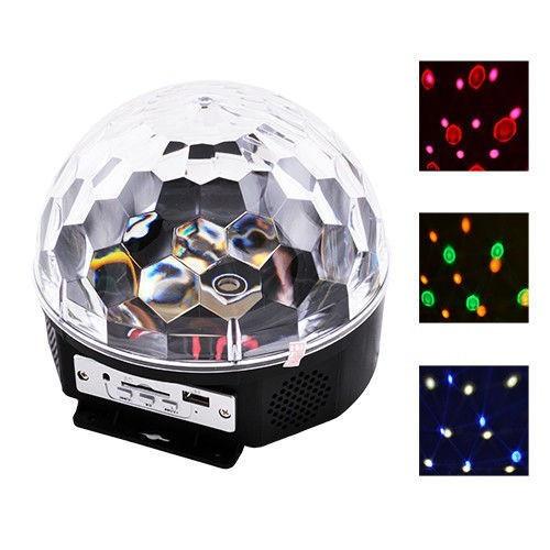 Музичний диско-куля з Bluetooth, USB, світломузикою, 2-я динаміками і пультом