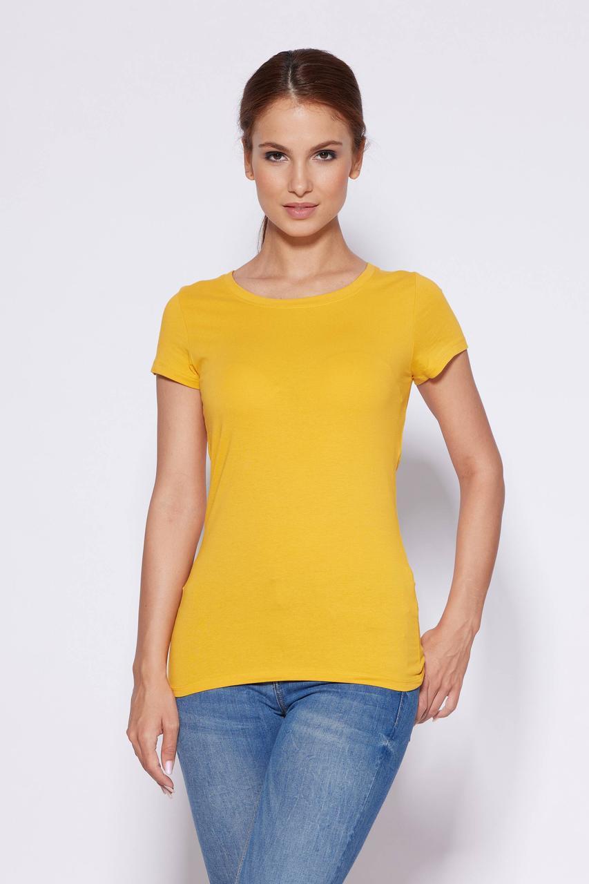 Жіноча базова однотонна жовта футболка Glo-story, Угорщина