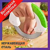Универсальный круглый нож Bolo для дома / Кухонный нож для пиццы / Для нарезки салатов, фото 2