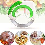 Универсальный круглый нож Bolo для дома / Кухонный нож для пиццы / Для нарезки салатов, фото 4
