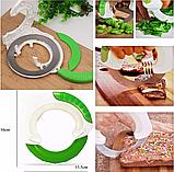 Универсальный круглый нож Bolo для дома / Кухонный нож для пиццы / Для нарезки салатов, фото 5