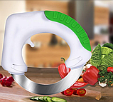 Универсальный круглый нож Bolo для дома / Кухонный нож для пиццы / Для нарезки салатов, фото 9