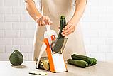 Мультислайсер тёрка для овощей Brava Spring Slicer 9462 / Многофункциональный ручной комбаин, фото 3