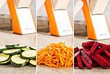 Мультислайсер тёрка для овощей Brava Spring Slicer 9462 / Многофункциональный ручной комбаин, фото 4