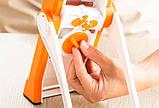 Мультислайсер тёрка для овощей Brava Spring Slicer 9462 / Многофункциональный ручной комбаин, фото 7