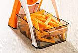 Мультислайсер тёрка для овощей Brava Spring Slicer 9462 / Многофункциональный ручной комбаин, фото 8