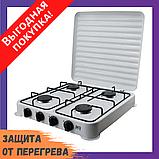 Двоконфорочна електроплита дискова настільна електрична плита Crownberg CB-3746 2000W, фото 2