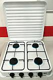 Двоконфорочна електроплита дискова настільна електрична плита Crownberg CB-3746 2000W, фото 3