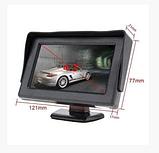 Автомонитор LCD 4.3'' для двух камер 043   монитор автомобильный для камеры заднего вида, дисплей, фото 5