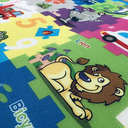 Дитячий ігровий килимок 120 на 180см. Двосторонній, фото 2