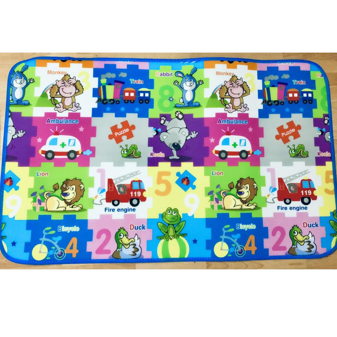Дитячий ігровий килимок 90 на 150см.Двосторонній