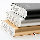 Повер банк Xiaomi 20800 mAh Power Bank / Зовнішній акумулятор ксяоми срібний / Павербанк - Різні кольори, фото 9