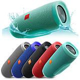 Портативна Bluetooth колонка JBL Charge 3 колонка з USB,SD,FM / Блютуз / ДЖБЛ з повер банком - СИНЯ, фото 5