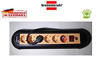 Подовжувач Brennenstuhl Casseta Line на 6 розеток з кнопкою чорно-персиковий 3м, фото 1