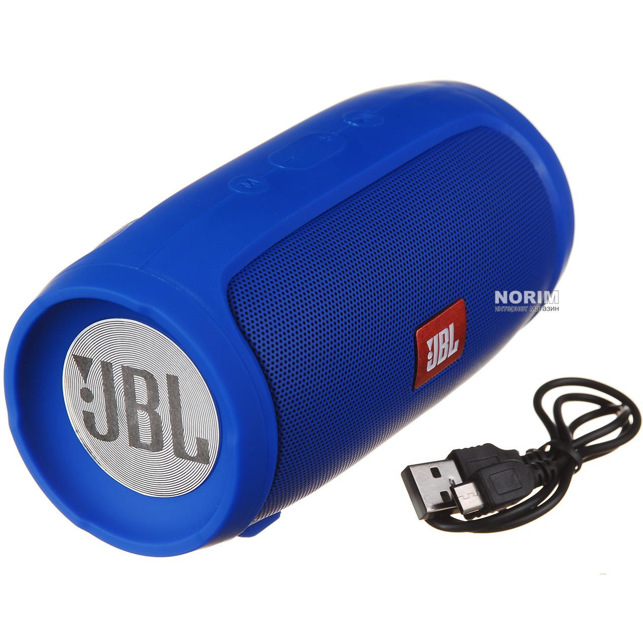 Портативна Bluetooth блютуз колонка JBL Charge 3 MINI колонка з USB,SD,FM / Блютуз - СИНЯ