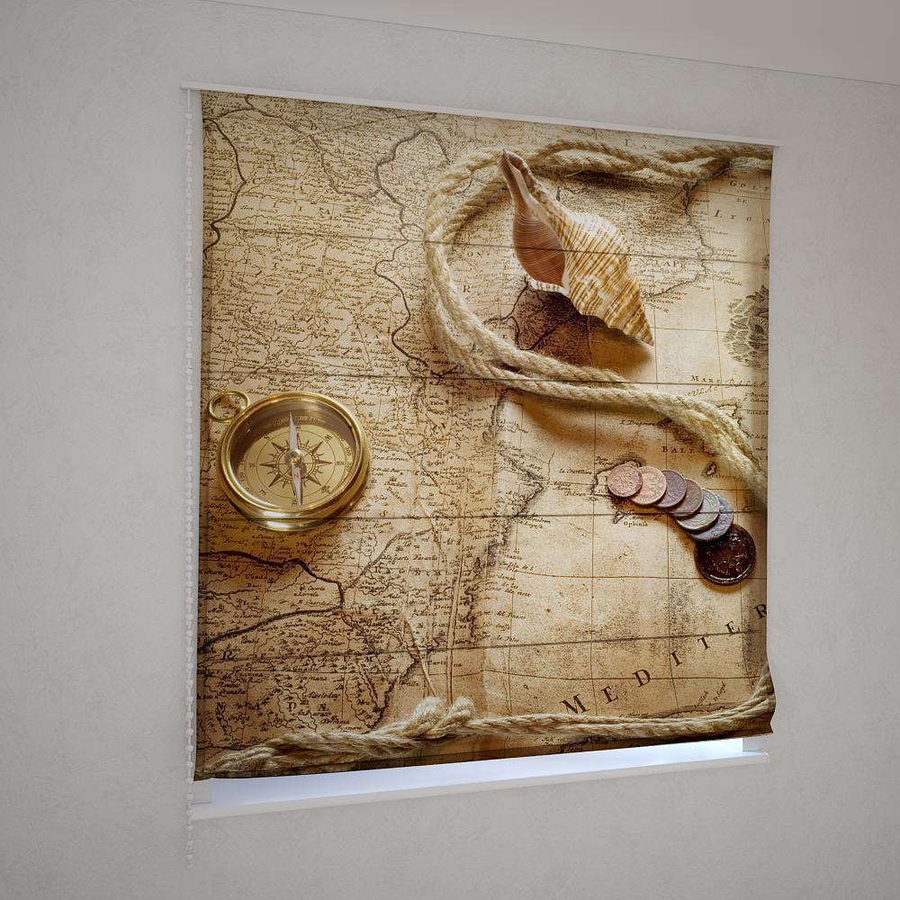Римские шторы карта