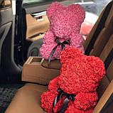 Мишко з 3D троянд 40см в красивій подарунковій упаковці ведмедик Тедді з троянд оригінальний подарунок, фото 8