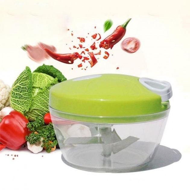 Механический измельчитель продуктов и овощей Easy Spin Cutter / Кухонный ручной измельчитель
