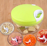 Механический измельчитель продуктов и овощей Easy Spin Cutter / Кухонный ручной измельчитель, фото 4