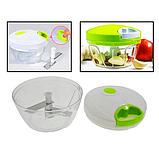 Механический измельчитель продуктов и овощей Easy Spin Cutter / Кухонный ручной измельчитель, фото 5